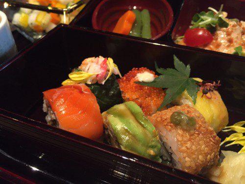 カラフルな巻き寿司